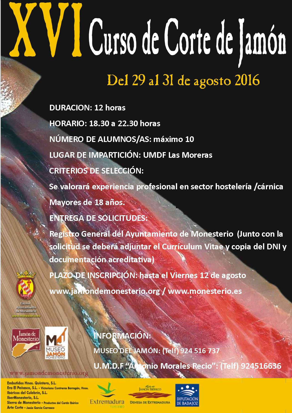 CURSO CORTE DE JAMON 2016